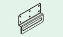 コロナ エコキュート部材 補助壁固定金具CTU-KH5